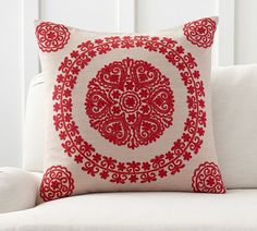 Roxanne Embroidered Pillow Cover