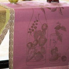 Eaux de Fruits includes jacquard woven renderings of refreshing fruit water. 2 colorways. Hardworking, sophisticated tea towels.