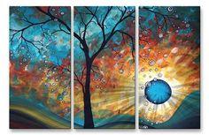 Aqua Burn Metal Wall Art - Tree, Floral & Branch.  $287.98 @allMetalWallArt.com