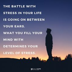 """""""Think about the things that are good and worthy of praise. Think about the things that are true and honorable and right and pure and beautiful and respected."""" (Philippians 4:8 NCV) Stress management starts in the mind. Learn more in this devotional from Daily Hope with Rick Warren."""