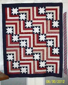 Rings of Freedom Scrap Quilt Project | Scrap, Patches and ... : stars and stripes quilt pattern - Adamdwight.com