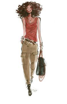We asked Izak Zenou -- fashion illustrator -- to draw ten random women he spotted in SoHo.