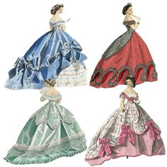 Belle of the Ball Paper Dolls 300 dpi PNG files by Darvahlous