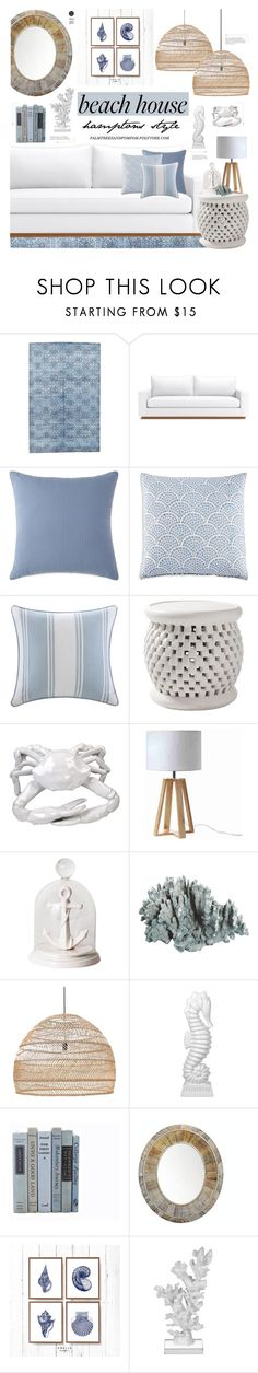 """Vacation Vibes: Dream Beach House"" by palmtreesandpompoms ❤ liked on Polyvore featuring interior, interiors, interior design, home, home decor, interior decorating, JR by John Robshaw, Harbor House, Serena & Lily and Pols Potten"