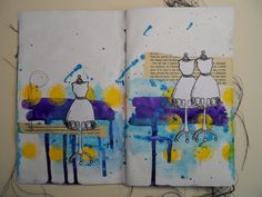 Art Journal page by Janina Maher