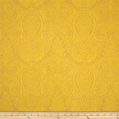 CORALLY PEACH & NAVY .... Dover Flannel Mono Paisley Gold from @fabricdotcom  Designed by Rosemarie Lavin Design for Windham Fabrics, this soft, double napped (brushed on both sides) flannel fabric is perfect for quilting, apparel and home décor accents. Colors include shades of gold.