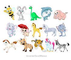 cute animal clipart kids clipart cute clipart safari animal clipart rh pinterest com Animal Coloring Pages Baby Cartoon Animals Clip Art