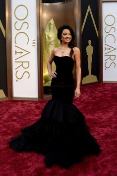 2015 Fashion Strapless Black Ruffles Organza Celebrity Dresses Party Gowns Custom Made Size 2 4 6 8 10 12 14 16 18+ CE17