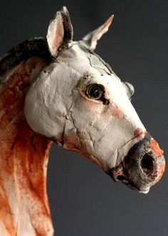 Ceramic horse sculpture (detail) by Ostinelli & Priest [Gaynor Ostinelli and Paul Priest] Pottery Animals, Ceramic Animals, Clay Animals, Ceramic Art, Pottery Sculpture, Pottery Art, Sculptures Céramiques, Horse Sculpture, Abstract Sculpture