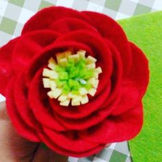 Felt flowers by me. See how I made it on this link http://klovecrafts.blogspot.com/2016/03/huong-dan-lam-hoa-vai-da-phan-2.html