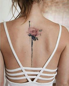 Nice female back tattoo, perfect one of women tattoos for upper back.