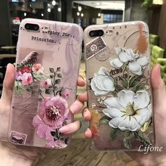 Bakeey™ 3D Relief Frosted Printing Fresh Flower Silicone Soft TPU Case for iPhone 7Plus 5.5 Inch