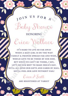 Long Distance Baby Shower Invitation Shower By SharingAPassionINC | Aunt  Lindsay | Pinterest | Distance, The Ou0027jays And Long Distance