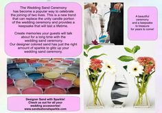 Our unity sand collection features over 90 colors for your perfectly matched unity sand ceremony. Sand Ceremony, Wedding Ceremony, Sand Collection, Unity Sand, Wedding Sand, Reception Table, Wedding Accessories, Wedding Colors, Wedding Planning