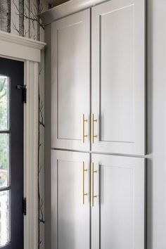 Cabinet paint color is Cape May Cobblestone. Rich mid tone warm gray. Jennifer Carvosi Design