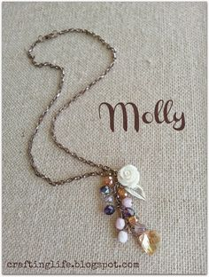 Make your own lariat-style necklace like this one that Molly made for Halcraft's Pretty Palette Challenge using Bead Gallery beads available at @michaelsstores  http://craftinglife.blogspot.com/2014/09/september-pretty-palettes-challenge.html