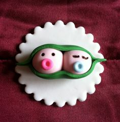 Two Peas in a Pod Cupcake Toppers by cakeorationstore on Etsy, $20.00
