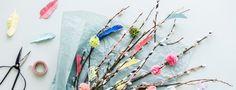 Helpot virpomisvitsat lapsille | 5 virpomisvitsojen koristeluideaa – K-Ruoka Art For Kids, Tassel Necklace, Tassels, Wreaths, Decor, Art For Toddlers, Art Kids, Decoration, Door Wreaths