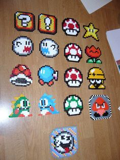 more Perler beads For those coasters I want to make! Must get perler beads! Pearler Bead Patterns, Perler Patterns, Perler Bead Mario, 8bit Art, Hama Beads Design, Peler Beads, Fusion Beads, Iron Beads, Melting Beads