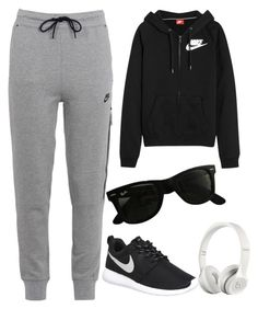 """#38"" by tonia21-1 ❤ liked on Polyvore featuring NIKE, Beats by Dr. Dre and Ray-Ban"