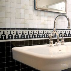 Mosaic House is a New York tile company specializing in Moroccan mosaic zellij or zellige, cement, bathroom, floor and kitchen tile. Mosaic House carries a range of tiles for home and business. Black And White Tiles, Black White, Brick Bbq, Islamic Tiles, Outdoor Sinks, Border Tiles, House Tiles, Residential Interior Design, Lobbies