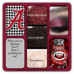 Roll Tide ALABAMA Eyes  Makeup https://www.youniqueproducts.com/shannonh/products/kudos