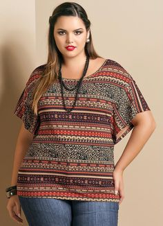 Risultati immagini per blusas plus size Curvy Fashion, Love Fashion, Fashion Outfits, Plus Fashion, Plus Size Blouses, Plus Size Dresses, Plus Size Summer Fashion, Plus Size Chic, Western Wear For Women