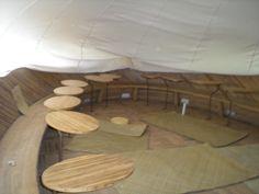 Bamboo desks.
