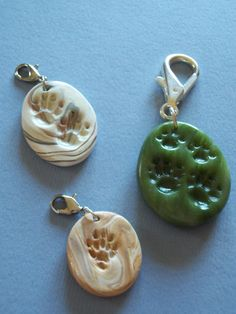DIY Ferret Paw Print Polymer Charm/Pendant/Ornament/Ring/Etc... (Inspiration Only. No Pattern or Instructions.)