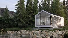 Tapping into the power of prefabrication, the haus.me smart home can be delivered with everything you need—from built-in furniture to Internet connectivity and complimentary wine glasses. Solar Energy Panels, Solar Panels, Prefab Cabins For Sale, Tiny House France, Water Generator, Single Story Homes, Best Barns, Built In Furniture, Home Technology