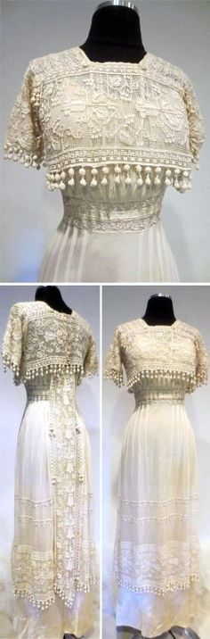 Edwardian Clothing, Edwardian Dress, Antique Clothing, Edwardian Fashion, Vintage Fashion, Edwardian Era, Victorian, Lace Clothing, Fashion Goth