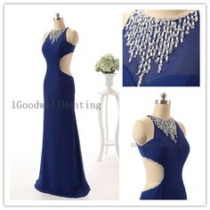 long blue prom dresses sexy blue prom dress by 1GoodwillHunting