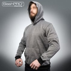 SlashPRO® Slash Resistant Hoodie with kangaroo front pocket, ideal of covert and surveillance operations. Ce Marking, Upper Body, Kangaroo, Gray Color, Pocket, Hoodies, Ea, Clothes, Travel