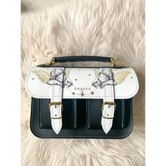 Small Leather Bag, Black Leather Satchel, White Leather, Leather Bags, Cute Bags, Luxury Bags, School Bags, Purses And Handbags, Shoulder Strap