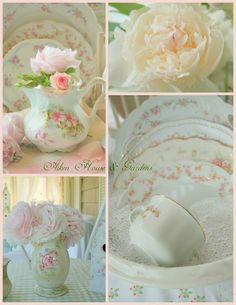 Pastel vintage china from Aiken House & Gardens
