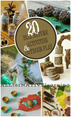Fall and Autumn Nature Activities for kids made from nature and designed for the outdoors  | ALLterNATIVElearning.com