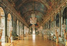 the hall of mirrors, versailles, france