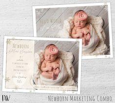 Mini Session Template, Newborn Marketing Board, Baby Birth Announcement, Photographer Templates, Photoshop Template,