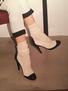 Sock pumps Chanel, $1095