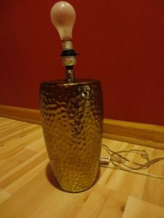 Vintage Hammered Brass Style Table Lamp Modern | eBay