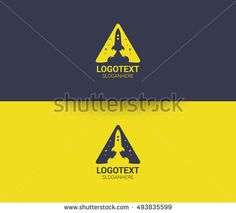 Rocket and Letter A logo