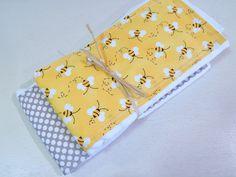 Bumble Bee Baby Burp Cloth 2 Piece Set