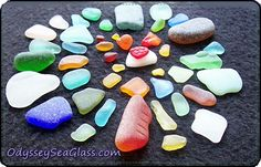sea glass color wheel rarity chart