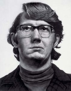 Chuck Close, art, painting, portraits, keith (1970 - acrylic on canvas)