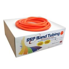 4 Inches X 6... Orange Bulk Latex-Free Resistance Band Level: Light Rep Band
