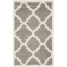 Amherst Dark Gray/Beige 3 ft. x 5 ft. Indoor/Outdoor Area Rug