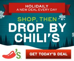 Chili's Coupons November 2012 We have more Hot Chili's printable coupons for you, and these are HOT! Now through December Chili's will be offering a new coupon deal ev . Coupons For Free Items, Free Printable Coupons, Chilis Coupons, Free Kids Meals, Restaurant Deals, Homemade Cleaning Products, Chips And Salsa, Soft Pretzels, Holiday Deals