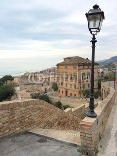 Grottammare, Ascoli PIceno county, view with street lamp