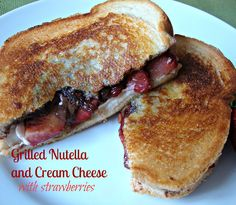 Grilled Nutella and Cream Cheese Sandwich