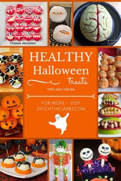 Healthy Halloween Treats that are gluten free, low carb, sugar free, wheat free, LCHF, HFLC, Banting and paleo. | ditchthecarbs.com